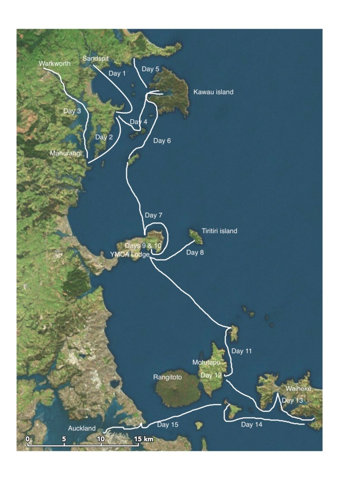 NZ Coastal Rowing Map A